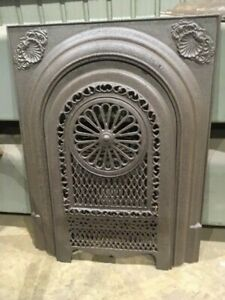 Vintage Cast Iron Fireplace Surround With Filigree Cover You Pick Finish Shell
