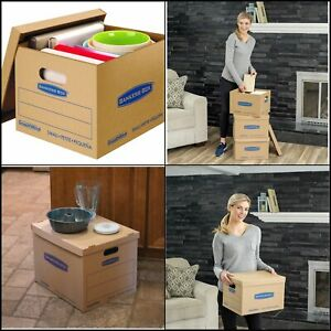 Classic Moving Kit Boxes Tape free Assembly easy Carry Handles 8 Small 4 Medium