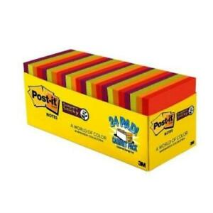 Post it Marrakesh Super Sticky Notes 3 X 3 Pack Of 24