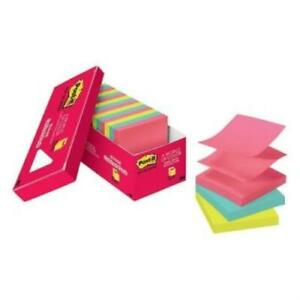 Post it Cape Town Assorted Colors Pop up Notes 3 X 3 18 pads Package Of 18