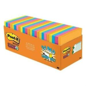 Post it Super Sticky Notes 3 X 3 Pack Of 24