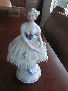 Sitzendorf Dresden Germany Porcelain Ballerina Figurine Antique Rare Late 1800 S