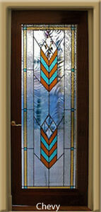 Beautiful Stained Glass Chevy Designer Interior Door