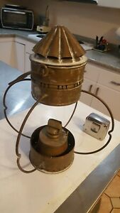 19th Century Large Onion Globe Nautical Ship S Lantern British Made Copper Oil