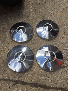 1961 1962 Ford Fairlane 9 1 2 Dog Dish Hubcaps Stainless Galaxie Falcon