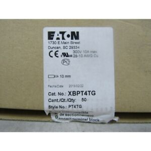 Eaton Xbpt4tg Terminal Block Spring Cage 10mm Box Of 50