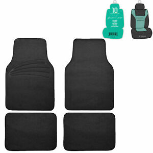 Car Floor Mats For Auto 4pc Carpet Universal Fit Heavy Duty 3 Colors W Gift