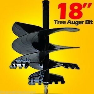 Tree Auger Bit 18 Fits All Skid Steer Augers W 2 Hex Drive 30 Day Delivery