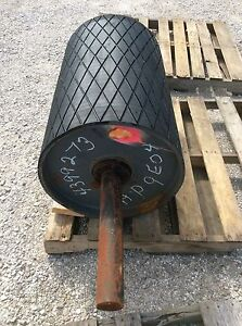 30 Drive Roller 30 Inch Conveyor Roller Rubber Lagged Head Roller Tail Roller