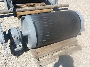 36 Head Roller 36 Inch Conveyor Drive Roller Rubber Lagged