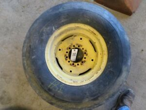 11l X 15 Tractor 3 Rib Tire On 6 Lug Jd Rim Tag 781