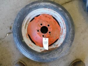 4 00 X 15 Tractor Front Tire On Allis Chalmers 5 Lug Tractor Rim Tag 587