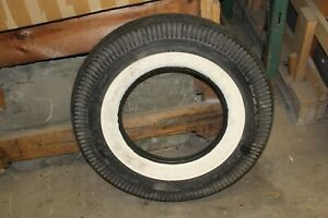 Corvette Nos 7 10 15 Firestone Champion Non Dot Whitewall Tire Chevy