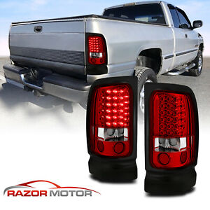 1994 2001 Dodge Ram 1500 1994 2002 Ram 2500 3500 Red Clear Led Brake Tail Lights