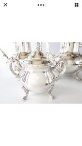 Vintage Towle Silver Plate Coffee Tea Sugar And Creamer Server Set