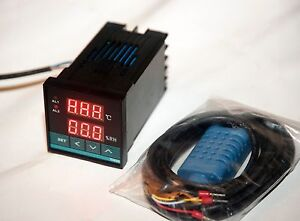 220v 110v Digital Temperature Humidity Moisture Controller 2 Extra 40a Relay