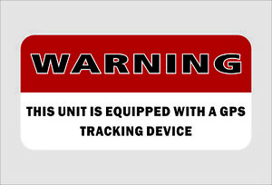 Sticker Gps Alarm System Warning Decal Car Vehicle Security Vinyl Helmet Decor