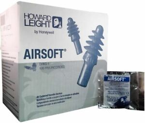 Howard Leight Airsoft Earplugs Uncorded Reusable Air Cushioned 2 Boxes