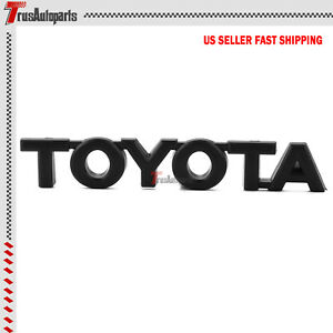 3d Abs Fender Trunk Toyota Emblem Badge Decal Sticker Logo Black For Toyota