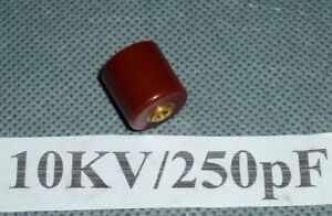 High Voltage Doorknob T3m Ceramic Capacitor 10kv 250pf Tesla Arrestor Tdk