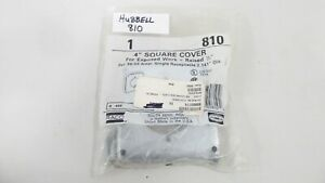 Hubbell 810 Square Receptacle Cover 4 Raised 1 2 For 30 50 Amp Single Recept