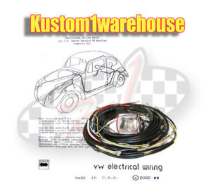 1955 Vw Volkswagen Bug Sedan Complete Wiring Works Harness Wire Kit Made In Usa