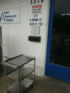 Stainless Steel Utility Cart 27 X 16 X 32 300 Lb Cap 4118