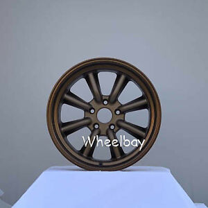 4 Pcs Rota Rkr Wheels 17x8 5 10 Small Cap 17x9 5 5x114 3 20 Sbronze Big Cap