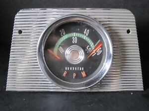 Vintage 60 S Ac Delco Oldsmobile Pontiac Buick Gm Console Factory Tachometer