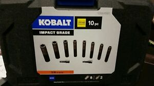 Kobalt 864582 10 Pc Impact Grade 3 8 Drive Socket Set