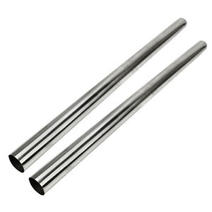 2pc 2 5 Od 4 Ft Stainless Steel T 304 Straight Exhaust Piping Tube Pipe Tubing