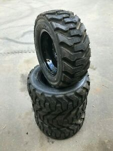 4 27x10 50 15 Goodyear Skid Steer Tires wheels rims 27x10 5 15 for Bobcat