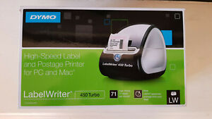 Dymo Labelwriter 450 Turbo Label Thermal Printer Black Brand New
