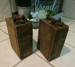 Vintage Antique Ford Model T A Ignition Coil Wooden Buzz Box Lot Of 2 Untested