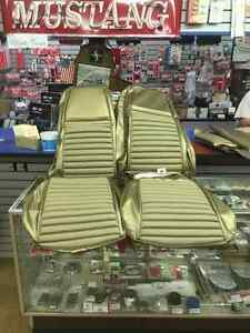 1969 1970 Ford Mustang High Back Seat Upholstery Mach1 Nugget Gold