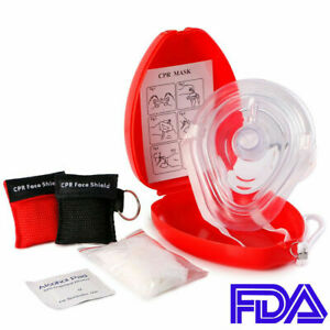 Adult child Cpr Pocket Resuscitator Rescue Mask 2 Keychain Cpr Face Shield