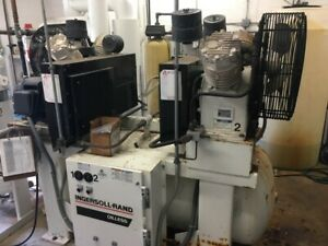 Ingersoll Rand Duplex Air Compressor Model 2 ol15a15 With Dryer Price Reduced