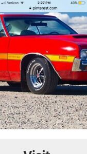 1972 Gran Torino Wheel Well Trim Show Condition Passenger Side Right Front