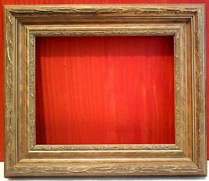 12 X 16 Standard 3 Wide Picture Frame Gold Leaf Classic Carved 1 8 Allowance