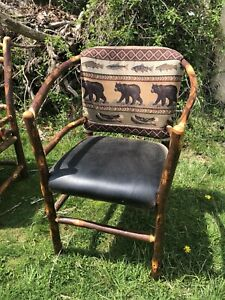 Old Hickory Style Rustic Craftsman Settee Chair Set