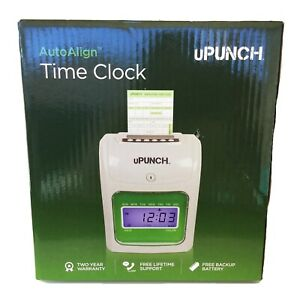 Upunch Time Clock Electronic Calculating Punch Card System Auto Align Hn3000