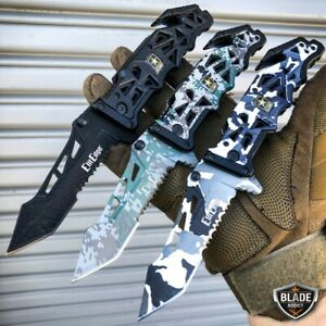 9quot; Military ARMY Tactical Spring Assisted Open Folding Rescue Pocket Knife Blade $18.00