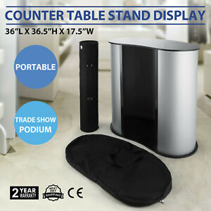 Podium Table Counter Stand Trade Show Display Bag Oval Bean Lightweight Updated
