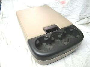 07 08 09 10 11 12 13 Chevy Silverado Center Console Armrest Cupholder Seat Tan