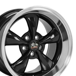 17x10 5 17x9 Rims Fit Mustang Bullitt Style Wheels Black Mach D Set
