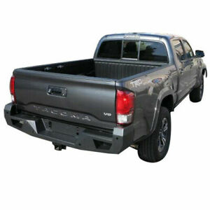 Apu Fits 2016 2019 Toyota Tacoma Armour Rear Bumper Protection Guard Black