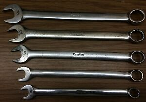 Snap On 5 Pc Sae Oex Series Standard Combination Wrench Set 3 8 5 8