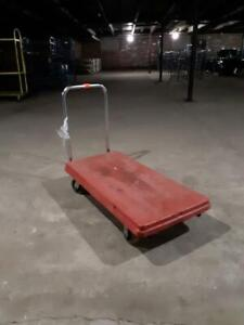 Flat Carts Commercial Plastic Stock Cart Material Handling Used Store Fixtures