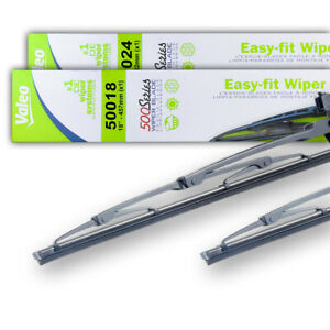 New Pair Of 18 24 Oem Valeo Wiper Blades Fits Jeep Compass 2017 5103544aa