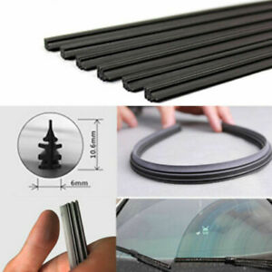 2x 26 650mm Rubber Wiper Blade Refill Frameless Universal Car Windshield Top